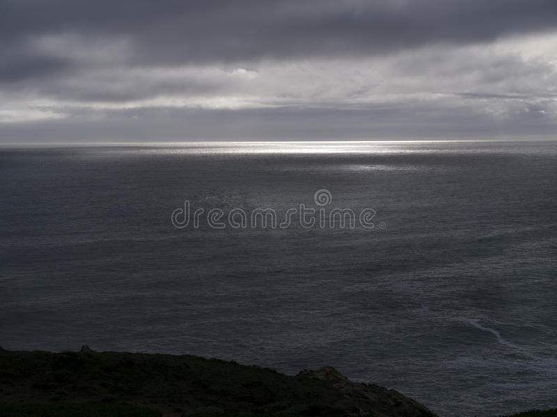 Download Stormy sky over the ocean stock photo. Image of shine - 30263960