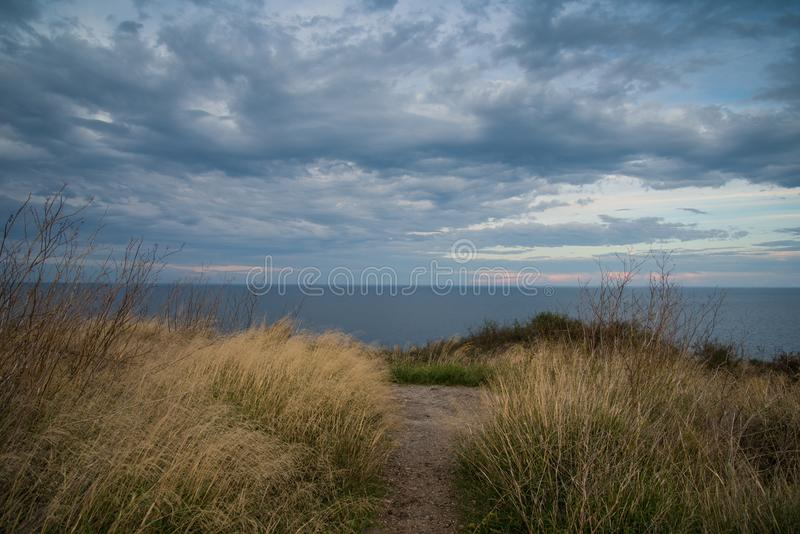Stormy sky over water royalty free stock photo