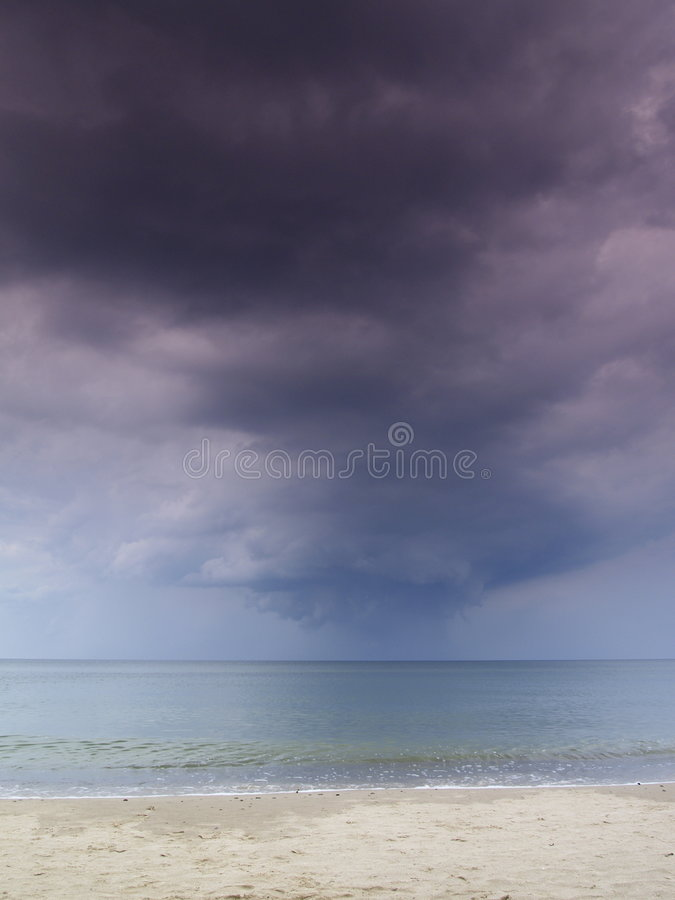 Stormy Sky And Steady Sea Stock Photography