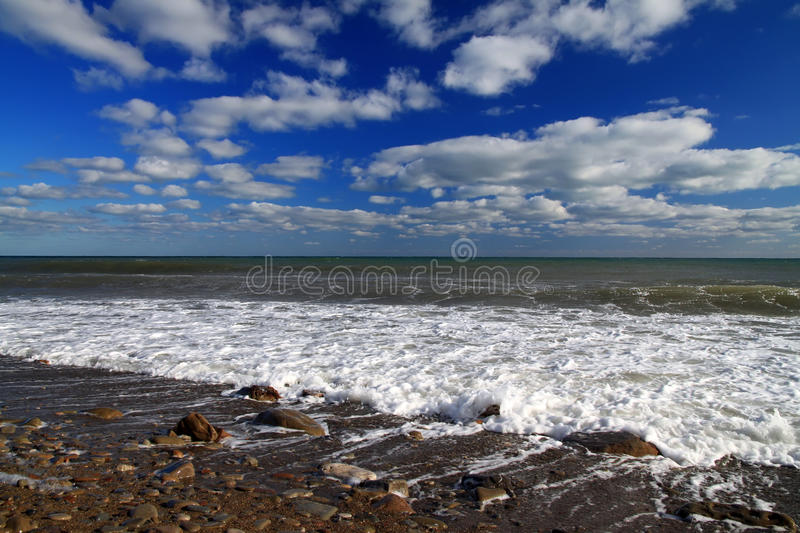 Stormy tropical sea royalty free stock photography