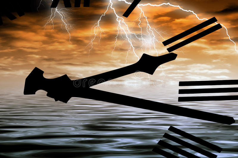 Download Stormy weather stock illustration. Image of clock, conceptual - 11475760