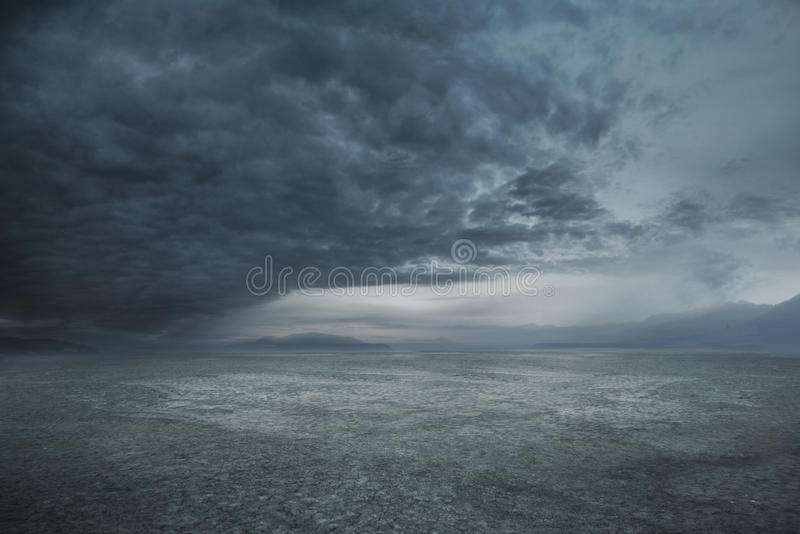 Stormy weather. And dark clouds stock images