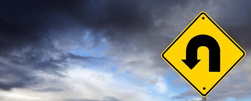 Download Stormy Weather Ahead - U Turn Stock Photo - Image: 14857178