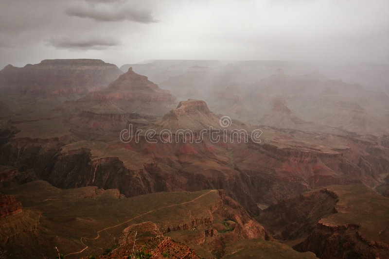 Stormy Weather at the Grand Canyon royalty free stock images