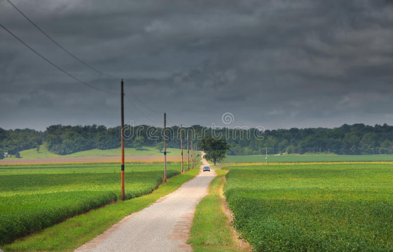 Stormy weather in Indiana state. Stormy weather Indiana state country side stock photo