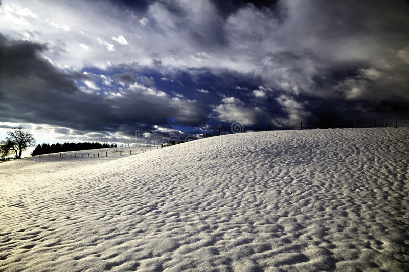 Download Stormy winter landscape stock photo. Image of hillside - 8111750