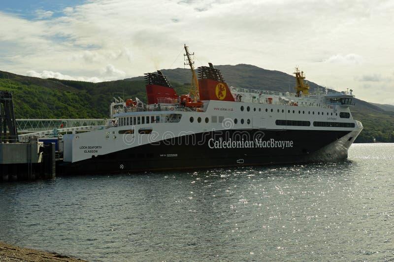 Stornaway à balsa Escócia de Ullapool, Reino Unido, Europa imagens de stock