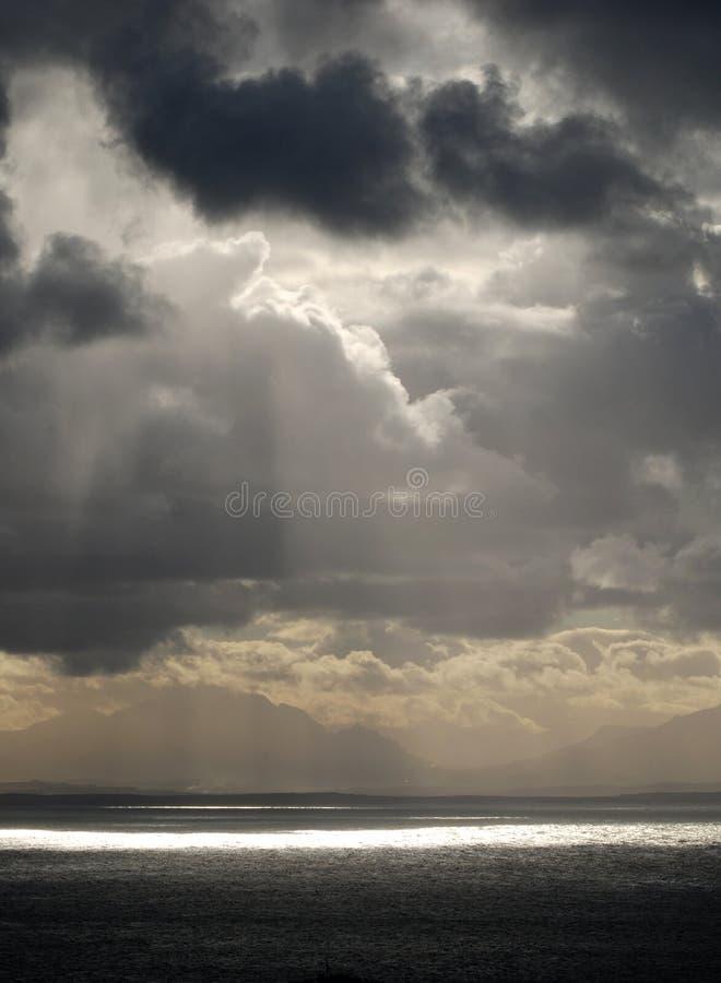 Storny Wolkenmeer stockbild