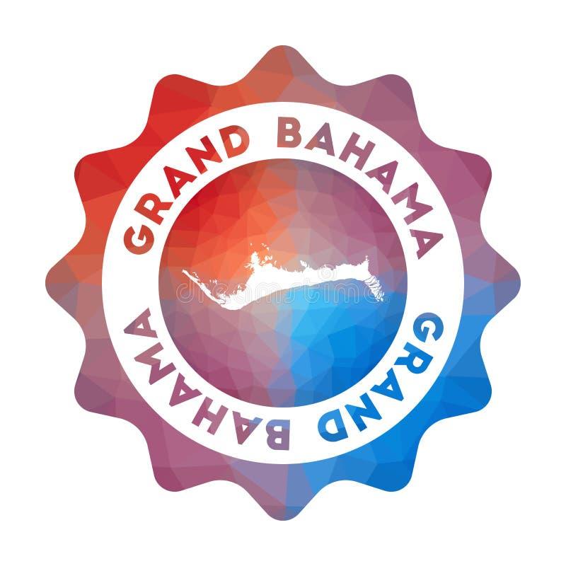 Storslagen Bahama låg poly logo vektor illustrationer