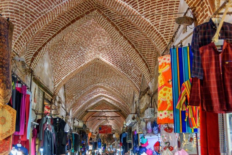Storslagen basar i Tabriz Östligt Azerbajdzjan landskap iran royaltyfri fotografi