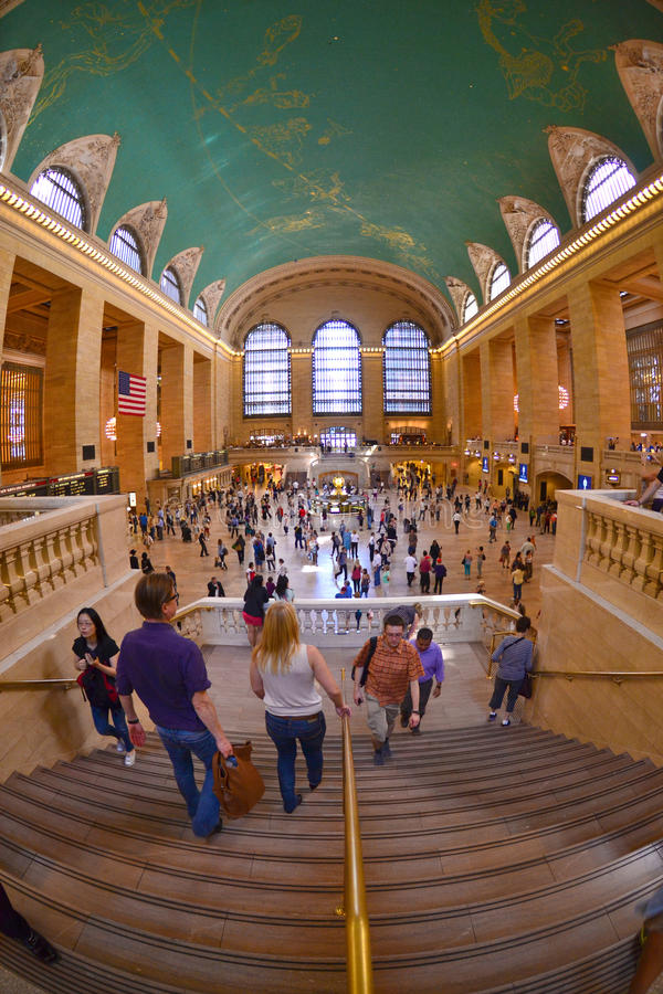 Storslagen centralstation, New York USA royaltyfri fotografi