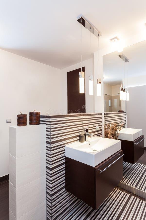 Storslagen design - badrum arkivbilder