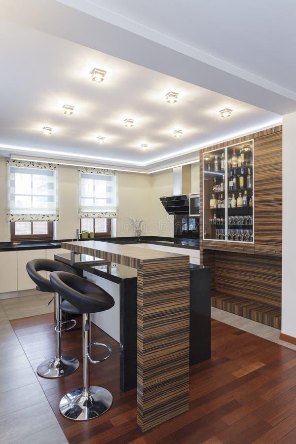 Storslagen design - kök fotografering för bildbyråer