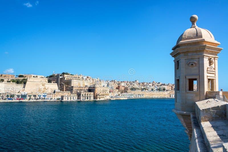 Storslagen hamn i Malta arkivfoton