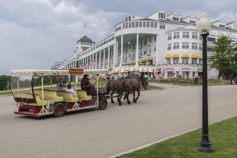 Storslagen hotellMackinac ö Michigan arkivbilder