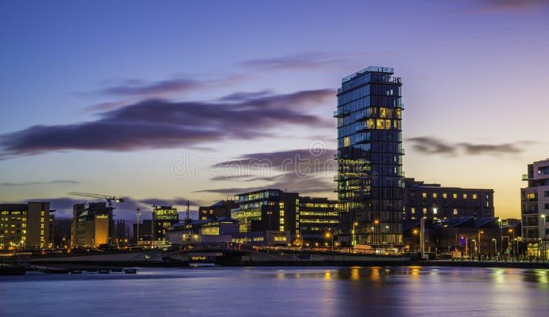 Storslagen kanalfyrkant, Dublin arkivbilder