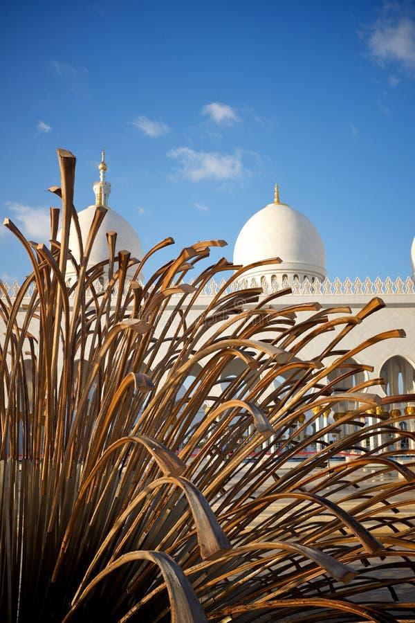 Storslagen moské Abu Dhabi royaltyfri fotografi