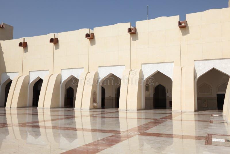 Storslagen moské för qatariskt tillstånd, Doha arkivfoto
