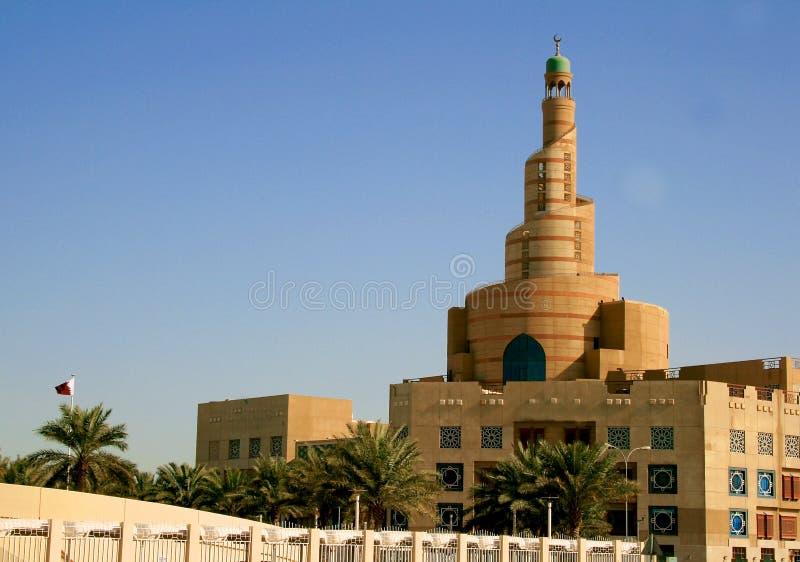 Storslagen moské i Doha, Qatar royaltyfri bild