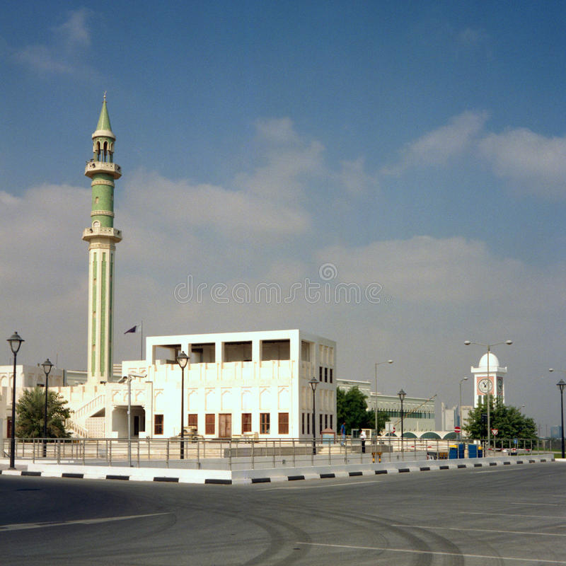 storslagen moské qatar royaltyfri fotografi