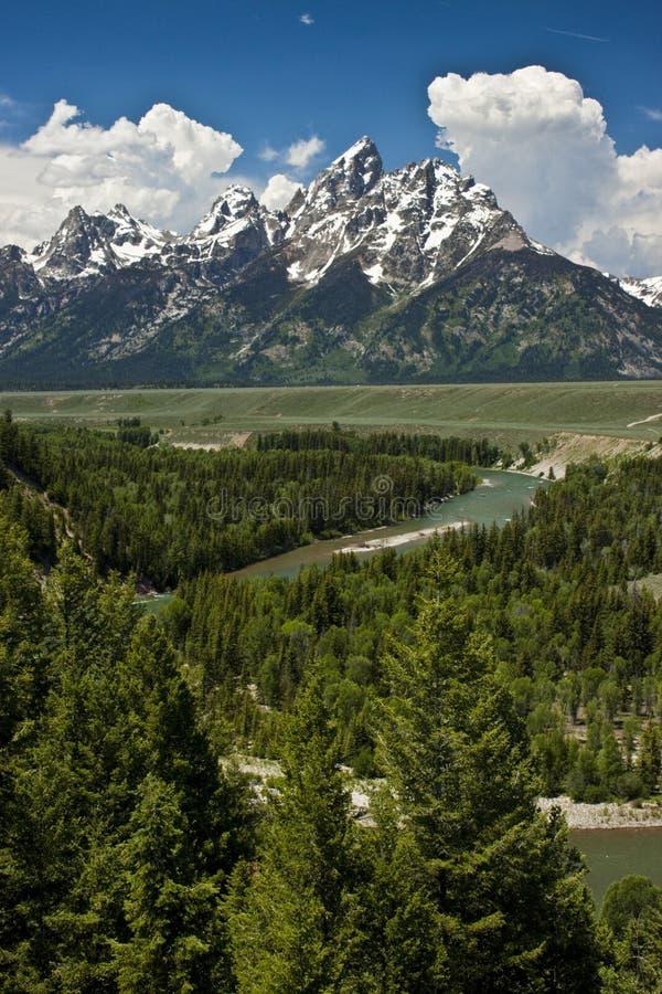 storslagen nationalparkteton USA royaltyfria foton