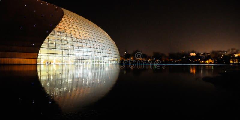 storslagen nationell teater för porslin arkivfoto