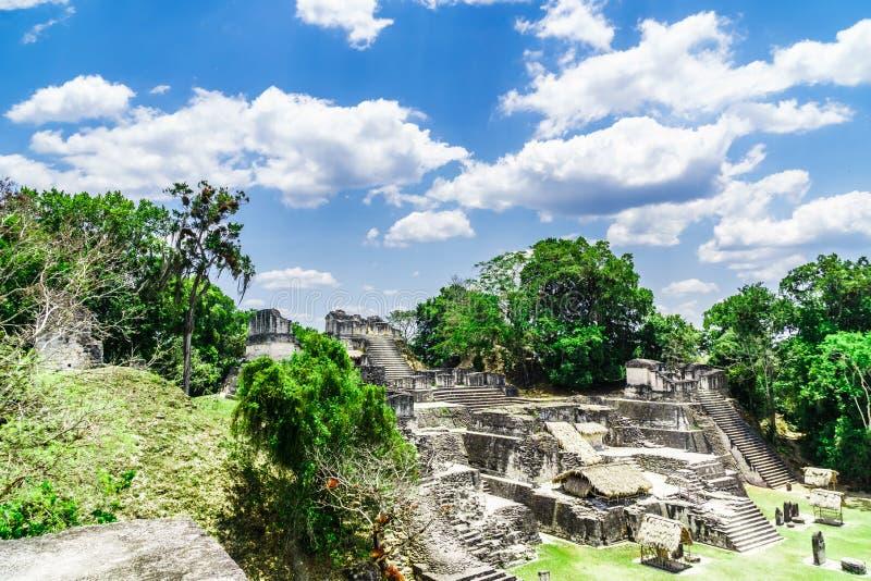 Storslagen Plaza i Tikal - Guatemala fotografering för bildbyråer