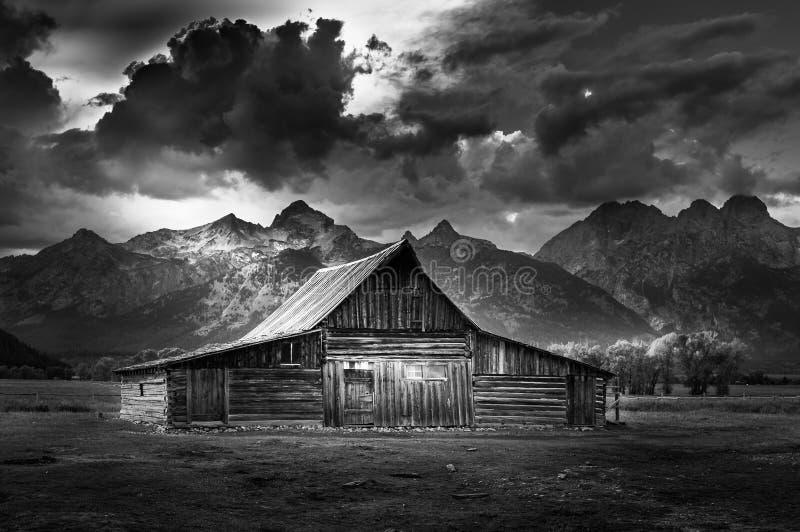 Storslagen rad för Teton nationalparkmormon royaltyfria bilder