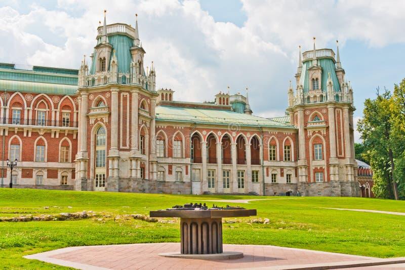 storslagen slott arkivbild