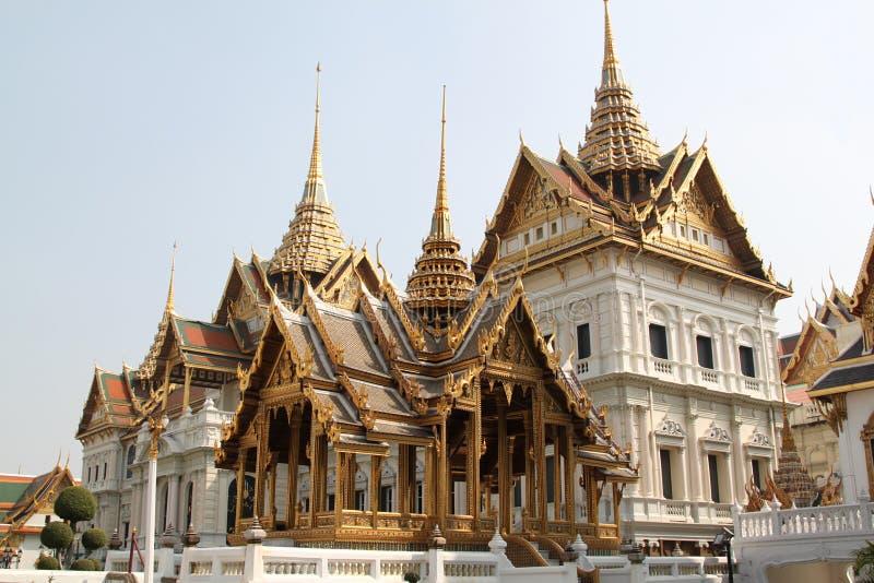 Storslagen slott, Bangkok, Thailand fotografering för bildbyråer