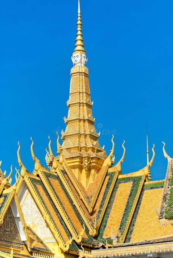 Storslagen slott, Cambodja. royaltyfria bilder