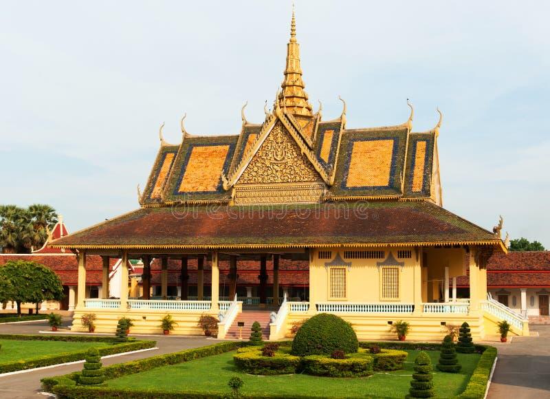 Storslagen slott, Phnom Penh, Cambodja. arkivbild
