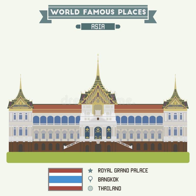 storslagen slottkunglig person Bangkok royaltyfri illustrationer