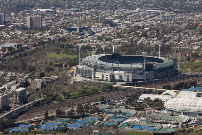 Storslagen Stadion, Melbourne Fotografering för Bildbyråer