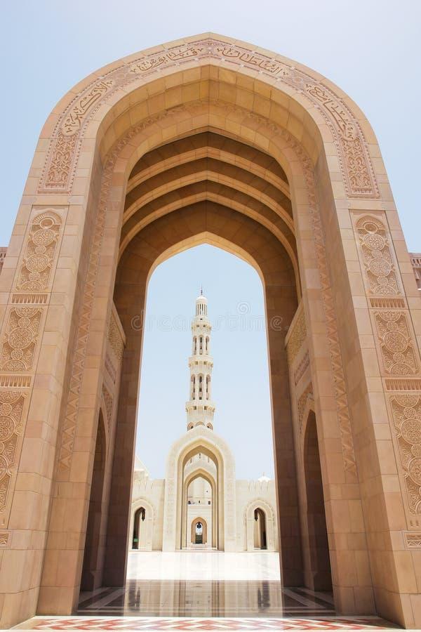 storslagen sultan för moskémuscatoman qaboos arkivfoton