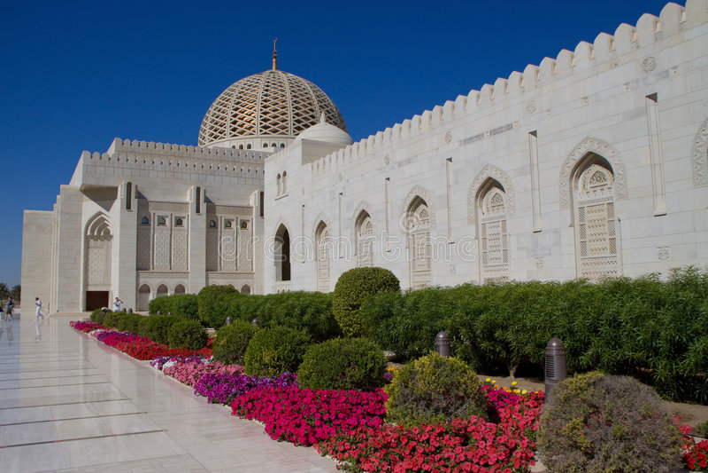 storslagen sultan för moskémuscatqaboos arkivbild