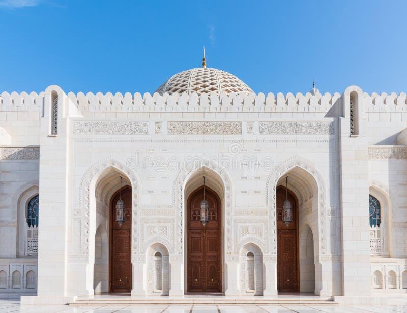 storslagen sultan för moskémuscatqaboos royaltyfria foton