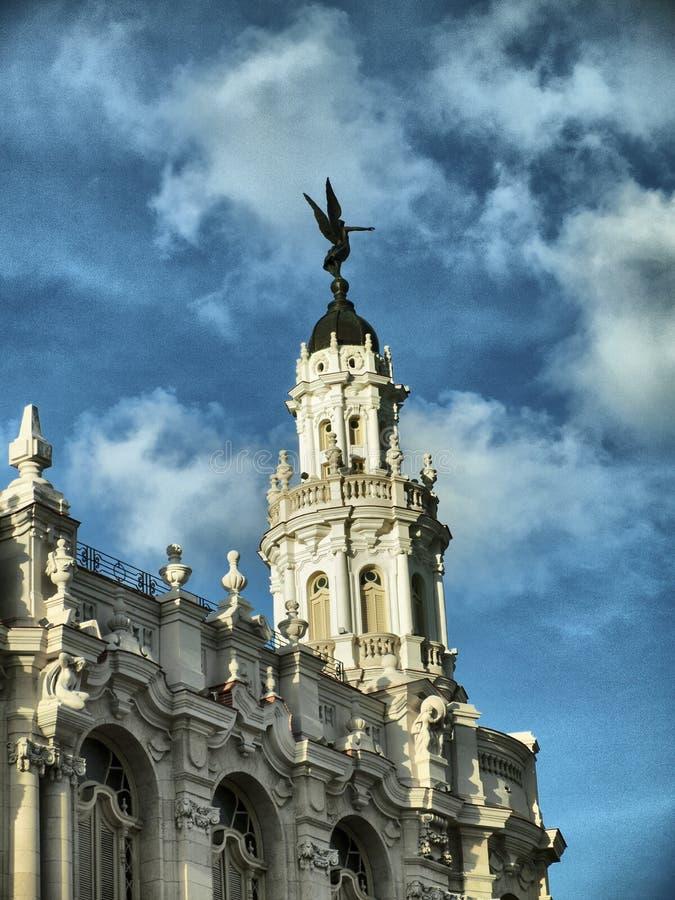 Storslagen teater av Havana arkivfoto