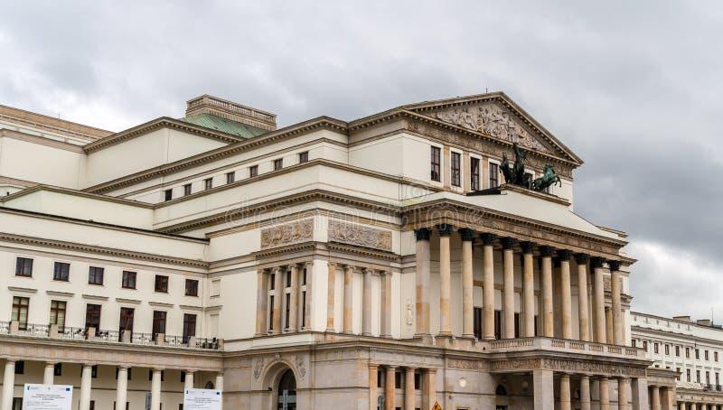 Storslagen teater - nationell opera i Warszawa, Polen arkivfoton