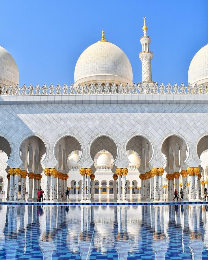 storslagen zayed moskésheikh royaltyfri foto