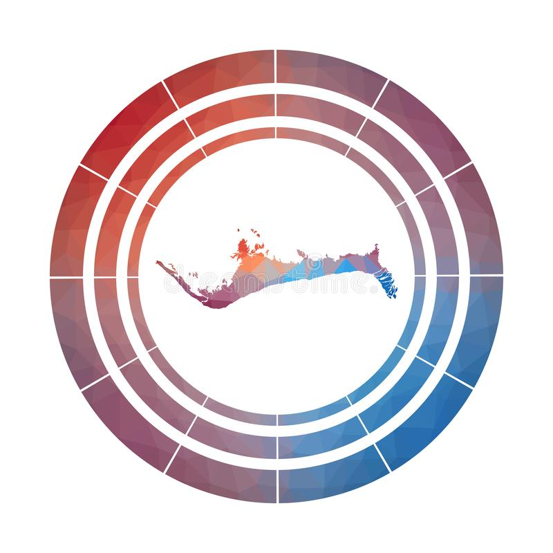 Storslaget Bahama emblem vektor illustrationer