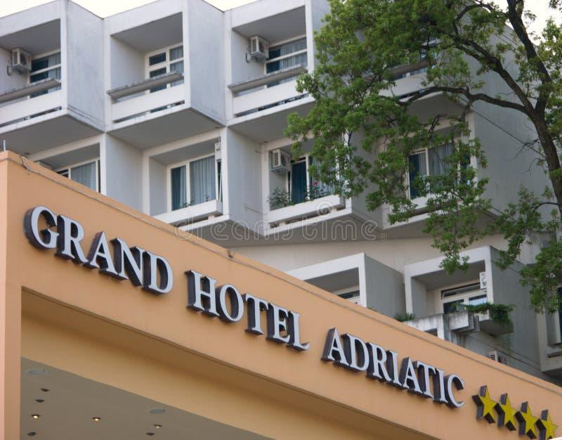 Storslaget hotell Adriatiska havet i Opatija, Kroatien royaltyfria foton