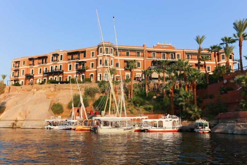 Storslaget hotell Aswan - Egypten arkivbild