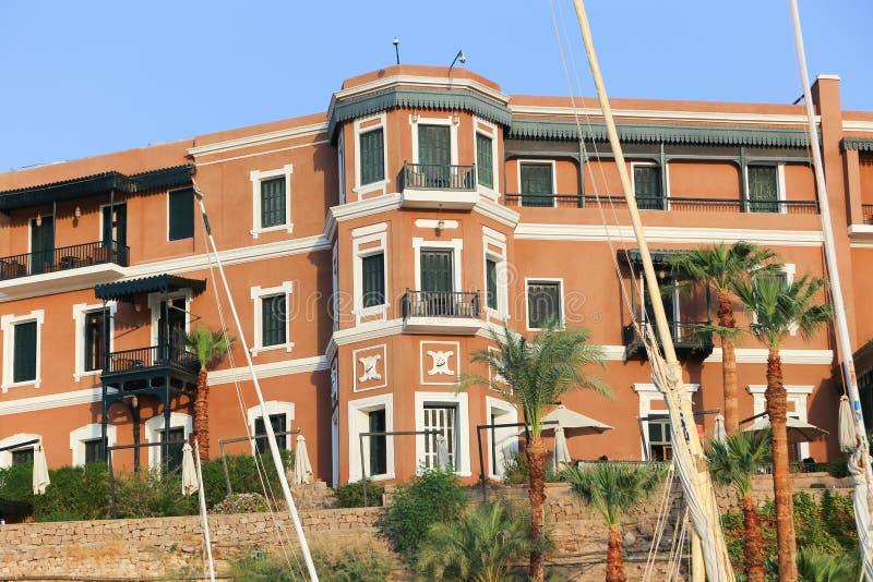 Storslaget hotell Aswan - Egypten royaltyfri bild
