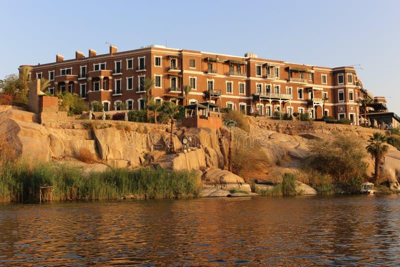 Storslaget hotell Aswan - Egypten arkivbilder