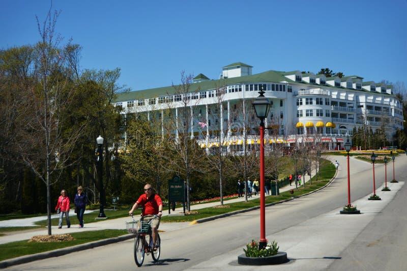 Storslaget hotell Mackinac arkivbilder