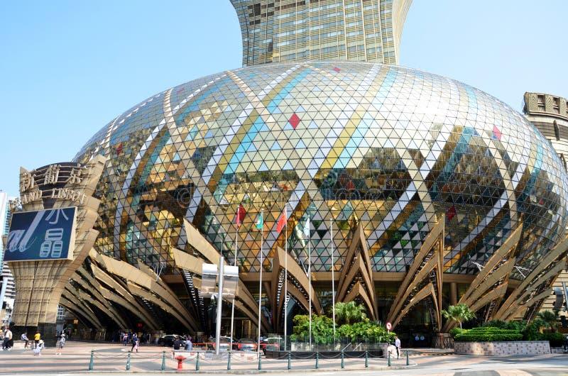 Storslaget Lissabon hotell i Macao arkivbilder