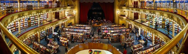 Storslaget storartat för El Ateneo i Buenos Aires, Argentina arkivbilder