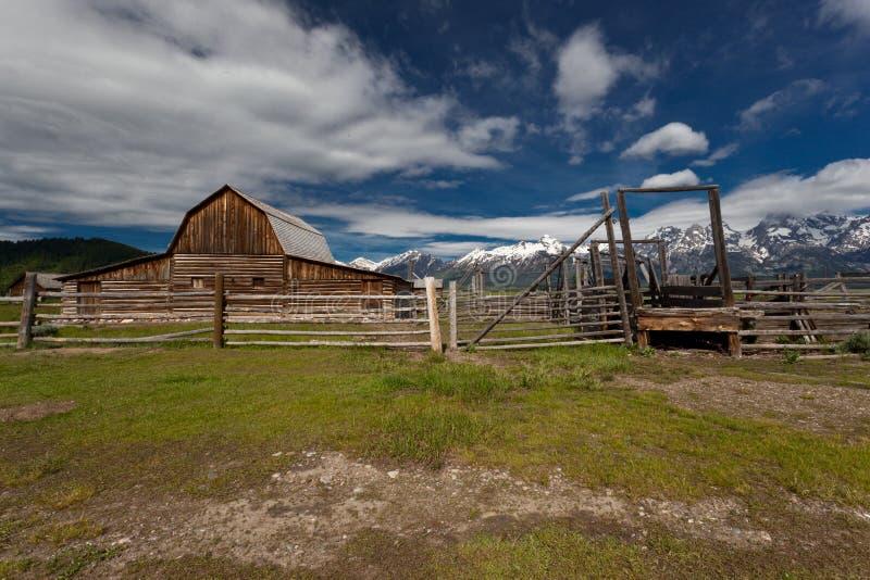 Storslaget Tetons nationalparklandskap royaltyfri foto