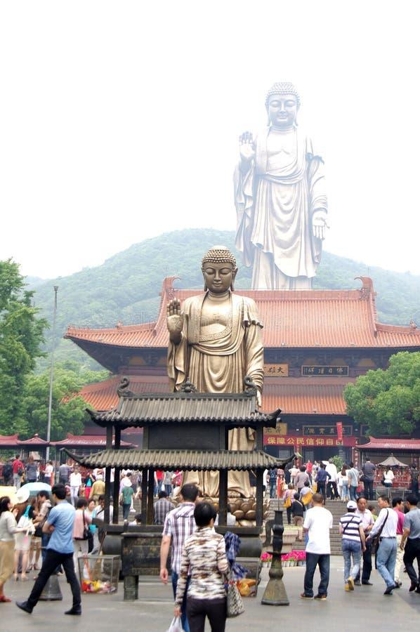Storslagna Buddha på Ling Shan arkivbilder